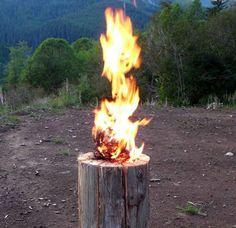 Swedish fire log ablaze