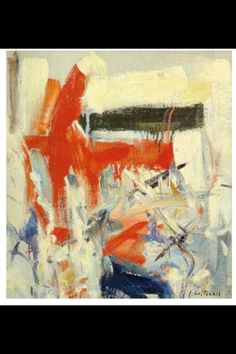 """Joan Mitchell - """"Untilted """", c. 1950s - Oil on canvas - 45,10 x 40,60 cm (*)"""