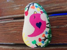 Cute bird painting stone!