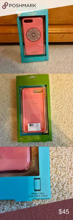 Kate Spade iPhone 7+ Case i got this as a gift without a receipt so i can't return it. i only opened the package to put the case on my phone for a minute. never used and brand new! looking to sell it to somebody who will put it to good use :) kate spade Accessories Phone Cases