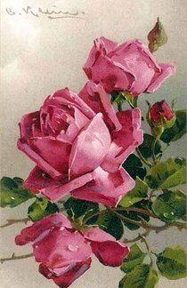 Arte Floral, Catherine Klein, Mirror Painting, Rose Art, Vincent Van Gogh, Beautiful Paintings, Rose Paintings, Beautiful Roses, Vintage Flowers