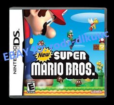 Nintendo New Super Mario Bros Version Game WITH BOX AND MANUAL Description Run, jump, and stomp your way through raging volcanoes, tropical islands, s... #game #with #manual #version #bros #super #mario #nintendo