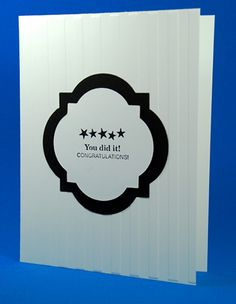 Handcrafted Black And White Graduation/Congratulations Greeting Card | cardsbylibe - Cards on ArtFire