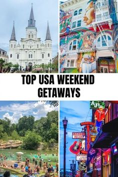 Looking for a fun weekend getaway in the USA? From San Francisco to Nashville and beyond, check out these great options for a long weekend. Travel Usa, Travel Tips, Travel Guides, Canada Travel, Travel Hacks, Travel Advice, Harbor Park, Best Weekend Getaways, Weekends Away