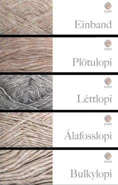 Iceland wool Lopi EinbandLopi - 50g 250m PlotuLopi - 100g 300m LettLopi - 50g 100m AlafossLopi - 100g 100m BulkyLopi - 100g 60m