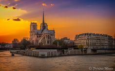 """Fotografia Sunset on """"Ile de la Cité"""" ... de Frédéric MONIN na 500px"""
