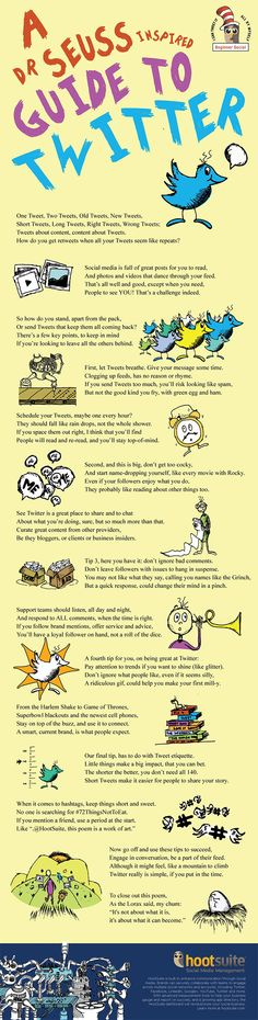 5 Rhyming Twitter Tips to Fine Tune Your Strategy for Success---A Dr. Seuss Guide To Twitter #marketing #infographic #newsletterguru