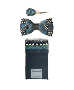 5a0b1a21b4c8 Scarab Bow Tie, Big Bay Pocket Square and Dragonfly Pin Set