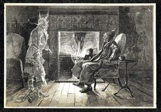 Inspiration: Ebenezer Scrooge visited by the ghost of Jacob Marley. British Christmas, Ghost Of Christmas Past, A Christmas Story, Christmas Carol, Christmas Fun, Father Christmas, Christmas Wishes, Xmas, Scary Ghost Stories