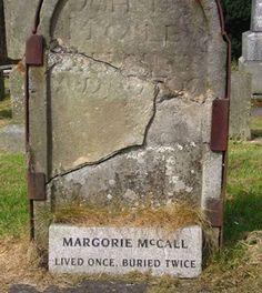 margorie-mccall-grave. Weird.