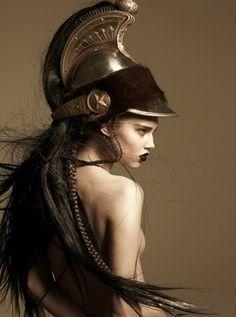 turquoblue:  Anais Pouliot as Athena Pallas                                                                                                                                                                                 More