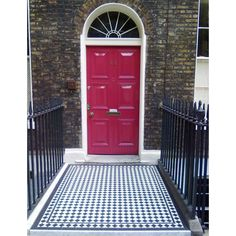 ennerdale 70 geometric floor tiles, ideal for small spaces, lay in a traditional victorian diamond pattern or checkerboard style Entry Doors, Entrance, Hall Tiles, Victorian Tiles, Geometric Tiles, Checkerboard Pattern, Adhesive Tiles, Damier, Tile Patterns