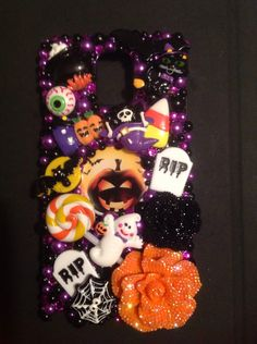 A personal favorite from my Etsy shop https://www.etsy.com/listing/246471983/bling-halloween-note-4-phone-case