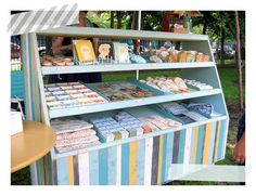 """Bakery Display"" cabinet for craft fair booth #booth #craftfair #display"