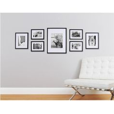 Photo Collage Frames On Wall 43 Pinnacle Gallery Perfect 7 Piece Wall Frame Set Black Wall Frame Set, Picture Frame Sets, Frames On Wall, Wall Frame Layout, Picture Placement On Wall, Photo Frame Ideas, Collage Frames, Gallery Wall Layout, Photo Wall Layout