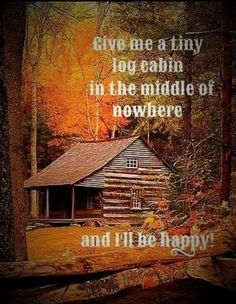 Give me a tiny log cabin in the middle of nowhere...and I'll be happy!! Log Cabin Living, Log Cabin Homes, Log Cabins, Ideas De Cabina, Tiny House, Design Rustique, Log Home Decorating, Little Cabin, Cabins And Cottages