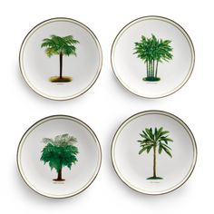 Covet these palm tree plates.