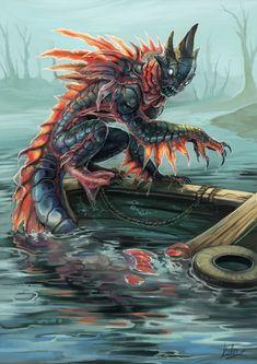 Explore best fallout art on DeviantArt Mythical Creatures Art, Alien Creatures, Magical Creatures, Fantasy Creatures, Fallout Art, Fantasy Monster, Monster Art, Creature Concept Art, Creature Design