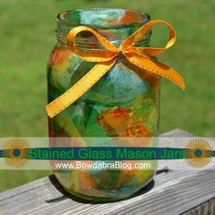Kids Craft Stained Glass Mason Jar Bowdabra blog