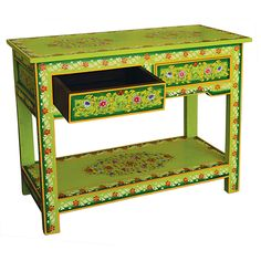 Painted Console Table » I am in love with this table, it is SO ME! I wish I had somewhere to put it.
