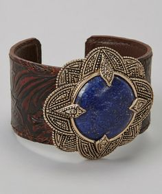 Take a look at this Lapis & Leather Cuff by Barse on #zulily today! Message from Jamie R. I love helping people, so if you are interested in buying this, get an extra $5.00 off your first purchase by clicking here: http://www.zulily.com/invite/jrincker750