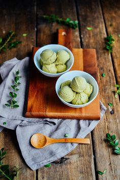 green tea ice cream; the richest green tea custard made with light cream, heavy whipping cream, and egg yolks
