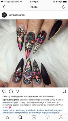 Gorgeous Nail Designs For Special Events Creative Nail Designs, Beautiful Nail Designs, Creative Nails, Nail Art Designs, Fabulous Nails, Gorgeous Nails, Pretty Nails, Nail Design Glitter, Nail Design Spring