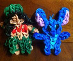 Lilo and Stitch made on the rainbow loom!