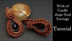 Copper Wire Jewelry, Jewelry Tools, Earring Tutorial, Wire Weaving, Tutorials, Brooch, Stud Earrings, Metal, Brooches