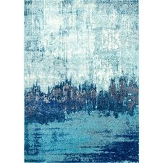 $111-130 at Overstock. nuLOOM Contemporary Abstract Blue Rug  (5' x 7'5)