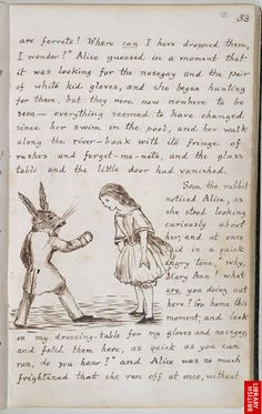 Lewis Carroll: 'Alice's Adventures Under Ground'  British Library Add. MS 46700, f.19v  Copyright © The British Library Board