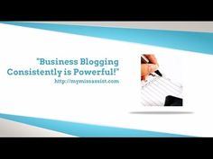 Business Blogging Consistently is Powerful! There are several advantages of consistent blog posts which you can take advantage of to grow your small business to remarkable levels. This video explains a few of these advantages.