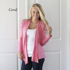 Our Autumn Open Cardigans are fabulous and perfect for the upcoming cool Fall/Winter days.   They pair perfectly with just about any outfits.