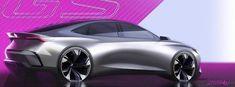 Car Design Sketch, Car Sketch, Exterior Design, Futuristic, Luxury Cars, Automobile, Sedans, Ps, Sketches