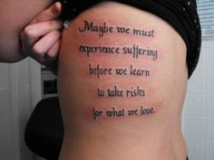 maybe we must experience suffering before we learn to take risks for what we love <3