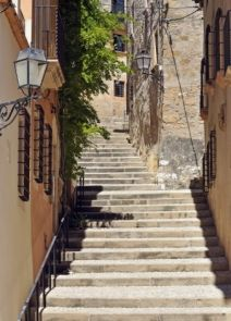 DecoArt24.pl Schody, Tarragona, Hiszpania - fototapeta - BUDYNKI - ARCHITEKTURA - FOTOTAPETY
