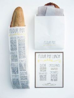 Branding for a restaurant. You could also use this idea to print your menus on your wedding reception table.