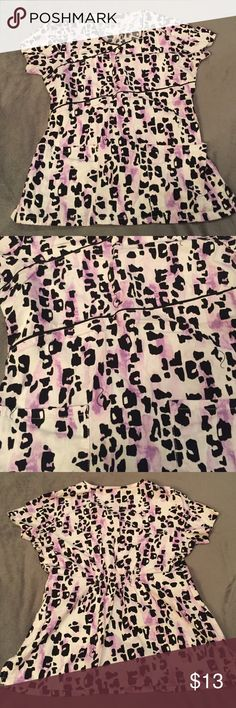 Scrub top Adorable black and purple Baby Phat scrub top Baby Phat Tops Blouses