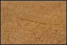 Plywood map of Edinburgh by Donald Noble, via Flickr