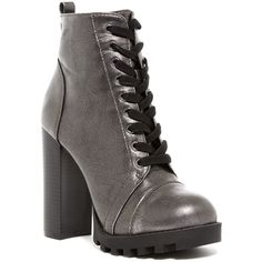 Ziginy Carver Platform Combat Boot (215 RON) ❤ liked on Polyvore featuring shoes, boots, blk faux o, faux-fur boots, laced boots, platform boots, vegan combat boots and lace up block heel boots