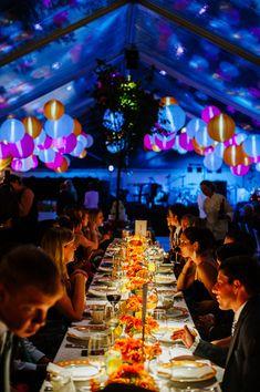 glowing paper lanterns   Bethany & Dan #wedding