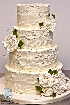 Elaborate Fondant Flower Wedding Cakes ❤ See more: http://www.weddingforward.com/fondant-flower-wedding-cakes/ #weddings