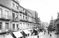 La calle del Príncipe, a la derecha la antigua cárcel, sobre el año 1920.