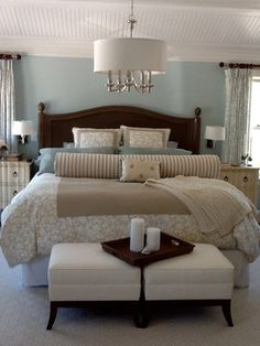 Cape Cod Retreat Home - beach style - bedroom - new york - Caroline Design