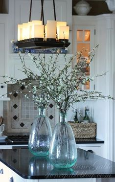 StoneGable: SPRING KITCHEN I'm in love with this blog and these vases I am dying over.