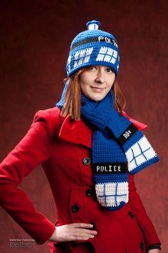 Crochet Hat: Dr Who inspired Tardis Hat, Beanie hat. $30.00, via Etsy.