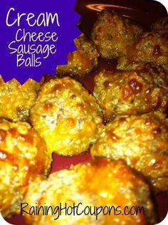 Cream Cheese Sausage Balls Recipe (Click on image to see recipe).