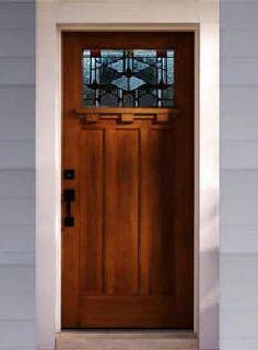 Craftsman Style entry door http://www.emeralddoors.com