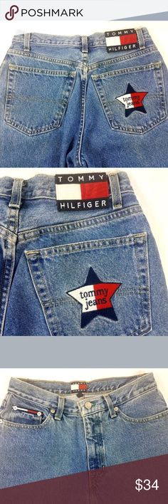 c24fa7e5 Vintage Women's Tommy Hilfiger Jeans Embroidered Vintage Women's Tommy  Hilfiger Jeans with Spellout Patch and Embroidered