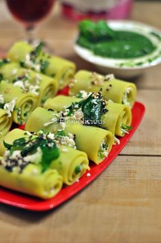 stuffed Mixed lentils khandvi - A protein rich snack which simply melts in mouth. Tricky to make but worth the effort.